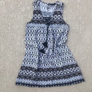 Black and white patterned sundress